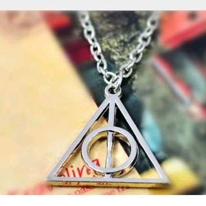 Harry Potter Movie Necklace Deathly Hallows Silver